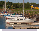 Yachts in the Sunrise Shore Marina Barrachois Harbour near Tatamagouche